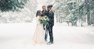 They wanted a winter wedding!